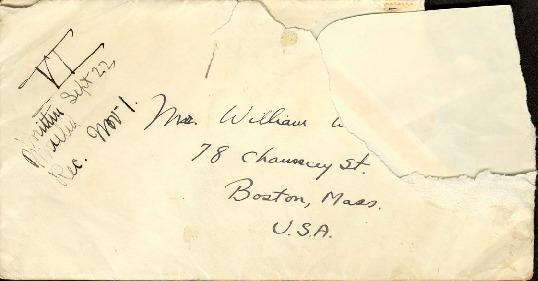 Dearest Family, September 22, 1926