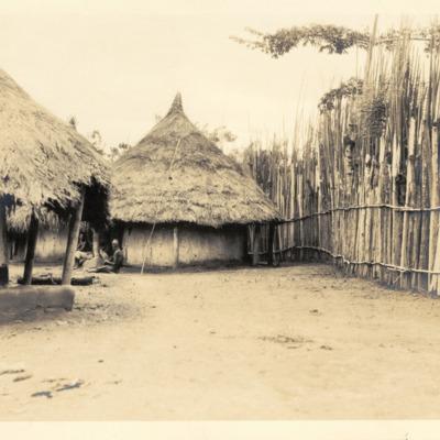 Palisade around compound in Suah Koko, Liberia